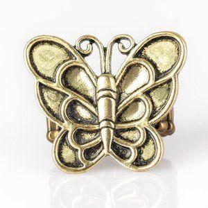 Sky High Butterfly – Brass Butterfly Ring